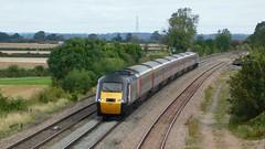 XC HST - Elford, Staffordshire (The Black Country Spotter) Tags: haselourlane elford tamworth staffordshire crosscountry trains class43 powercar 43304 43384 highspeedtrain hst intercity125 york penzance networkrail britishrailways