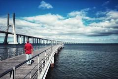 Walking to Montijo ? (marc.barrot) Tags: estuary river tagus tejo shotoniphone landscape taguspark lisbon portugal 1990 parquedotejo lisboa pontevascodagama