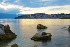Lake Ohrid (Dražen Kosijer) Tags: ohrid lake northmacedonia longexposure landscape clouds water sunset sky dramaticsky stone stones