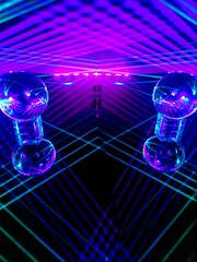 "IMAG5976~2 (LewDude) Tags: lasers lightart structuredlight vaporwaveart vaporwaveaesthetic outrun rad laserbeams refraction reflection photons spaceart tron vaporwave diffraction synthwave whoa homemade diy science diodes current optics orb physics vaporwaveart""""albumart""""opart""lasergeometricabstractabstract artabstract photography"" ""psychedelic"" trippy photography artist ""geometric art"" neon"