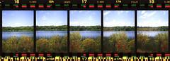 A Walk to Remember (Bob DeHoff) Tags: 35mm fujisuperia400 halfframe olympuspenee2 film lake panorama