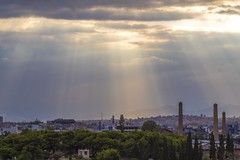City of the Gods (dimitratrovas) Tags: athens greece beauty city chaos gods sun rays sunset canon canonphotography