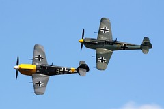 Buchon pair (Craig S Martin) Tags: victoryshow wwii aircraft airplane aviation warbird buchon hispanobuchon white9 gawhh yellow7 gawhm luftwaffe fighter