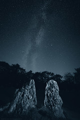 Experimental and expensive (Images from the Dark Side) Tags: rollright stone circle astro milky way stars night duotone
