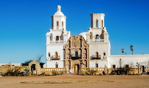 Mission San Xavier del Bac in Tucson, Arizona.