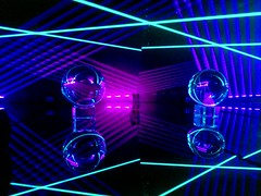 "IMAG5969~2 (LewDude) Tags: lasers lightart structuredlight vaporwaveart vaporwaveaesthetic outrun rad laserbeams refraction reflection photons spaceart tron vaporwave diffraction synthwave whoa homemade diy science diodes current optics orb physics vaporwaveart""""albumart""""opart""lasergeometricabstractabstract artabstract photography"" ""psychedelic"" trippy photography artist ""geometric art"" neon"