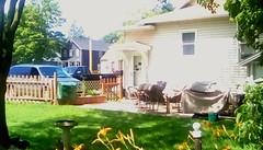 Neighbor's backyard - HFF Menominee Michigan (Maenette1) Tags: neighbors backyard house fence vehicles menominee uppermichigan happyfencefriday flicker365 allthingsmichigan absolutemichigan projectmichigan