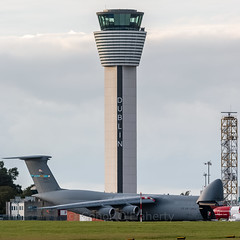 87-0036 USAF United States Air Force Lockheed C-5M Super Galaxy (L-500) EIDW with tower (Conor O'Flaherty) Tags: usaf mike pence dublinairport eidw dublin ireland plane cargo aviation visit jet canon