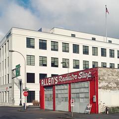 (el zopilote) Tags: portland oregon street architecture cityscape industrial signs red kodak portra 120 6x6 hasselblad 500cm carlzeiss planarcf80mmf28t zv mediumformat