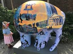 Elmer painted with scenes of Elephant and Castle (Matt From London) Tags: elmer elephantandcastle elephant holly