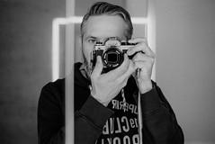 Selfieday (Pierre_Bykol) Tags: 400tx kodak 50mm14 fe2 nikon mirror analog film selfie