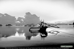 Forget me not (3MY MAIK3) Tags: happy blackandwhite palawan elnido sea boat philippines journey moments clouds storm