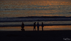 Cannon Beach Sunset & Silhouettes 🌅 (SonjaPetersonPh♡tography) Tags: cannonbeach oregon oregoncoast northcoast coast nikon nikond5300 afsdxnikkor18300mmf3563gedvr sunset sunsets sky nightphotography nightscenes nightsky silhouettes pacificnorthwest pacificocean ocean beach scenic scenery waves clouds colorful sun seaside
