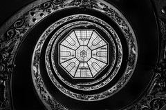 Vatican, museum (Kir K.) Tags: vatican rome bw italy staircase