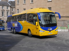 Edinburgh Coach Lines Scania K410EB6 Irizar i6 YT19EBC, in Citylink livery, operating service M92 to Edinburgh, at Elder Street prior to entering Edinburgh Bus Station on 2 September 2019. (Robin Dickson 1) Tags: citylink edinburghbuses edinburghcoachlines irizari6 scaniak410eb6 yt19ebc