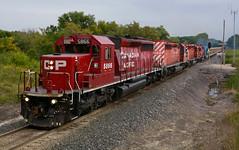 CP 5866- Four pack at Heney (Khang Lu) Tags: emd gmd cp canadian pacific sd402 5866 dresser turn rock ballast heney signal grex herzog train locomotive railroad plymouth mn minnesota