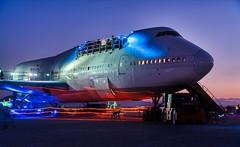 747 Party (Trey Ratcliff) Tags: burningman nevada stuckincustomscom treyratcliff 747 plane aircraft aeroplane jet liner club music party night sunrise hdr aurorahdr black rock city desert