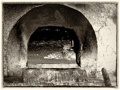 Mexican Stone Oven (by Deborah K Photography) Tags: fineart dustyroadphotos offgrid rurallife old mexico minimal ruralliving ruralphotography dustyroadpics antiqueplate rustic simpleliving woodstove artistic simplicity minimumcolour stoneoven stones nopower wood countryliving monochrome adobe simplelife sepia aged kodakv550 canada deborahkphotography ruralways countrylife canadian art