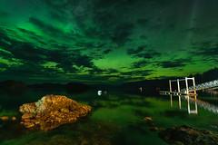 Aurora Over Ketchikan (joshvanderzanden) Tags: auroraborealis northernlights alaska ak ketchikan cloverpass nature landscape skyscape clouds night docks piers nikond750 tamron1530 grandeur colorfulskies