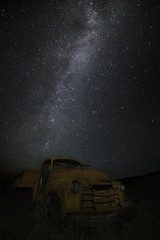 Milky Way Old Truck 6907 A (jim.choate59) Tags: jchoate on1pics milkyway nightsky stars truck oldtruck vintage longexposure summer sky deadoxranch bakercityoregon