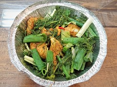 Cha Ca Ha Noi (knightbefore_99) Tags: food lunch work vancouver takeout takeaway asian tasty awesome delicious misterred vietnamese vietnam eastvan chacahanoi fish fillet pan fried turmeric dill green onions art shrimp paste sauce