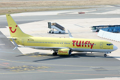TUIfly B737-800 D-ATUK  arriving FRA/EDDF (Jaws300) Tags: datuk tuifly b737800 charterairline holiday holidayflyer frankfurtammain canon5d yellowtail eos eddf fra main am frankfurtairport frankfurtammainairport twin arriving arrival parking gate ramp apron stand terminal remote airline airlines airways airport canon 5d remotestand frankfurt air boeing b737 b738 backlit backlight morning germany deutschland europe de eu cfmi cfm56 tui x3 tuijet holidaycharter holidayairline uk