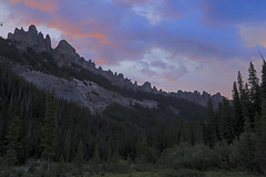 Soft light over sharp pinnacles (Explored) (Jeff Mitton) Tags: turretridge cimarronriver sanjuanmountains colorado mountains pinnacle cliff wall sunset earthnaturelife wondersofnature