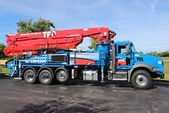 TPG Pompage De Beton Concrete Pump Truck (raserf) Tags: tpg pompage de beton concrete cement truck trucks pump pumper pumping putzmeister mack sturtevant wisconsin racine county laval quebec canada