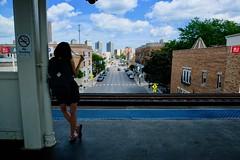 Addison Red Line (dangaken) Tags: city summer urban chicago illinois fuji il chi fujifilm chicagoil windycity cityofbroadshoulders fujixmount fujixt2 fujifilmxt2 street photography candid streetphotography dailylife streetshooting photographyurban fujifilmstreetphotography travel station train subway cta publictransit el transportation transit l ltrain commuter masstransit elevated eltrain elevatedtrain chicagotransitauthority subwaycar chicagol elevatedline subwayphotography chicagoltrain woman girl skirt backpack northside addison hairflip jeanskirt addisonredline playingwithhair sandals
