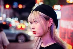 Portraits of Strangers (Jon Siegel) Tags: nikon nikkor d810 35mm 14 35mmf14ais 35mm14 people portrait seoul hongdae southkorea bokeh portraiture youth fashion style korean night evening woman girl cute hat street hongikuniversity