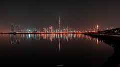 Dubai heart beat. (HabibullahQureshi) Tags: dubai dubaicityscape burjkhalifa nightphotography dubaiatnight cityscape longexposure seascape uae dubailove photography places travel natgeotravel nationalgeographic yourshot