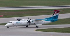DHC-8 | LX-LQC | MUC | 20190823 (Wally.H) Tags: bombardier dehavillandcanada dhc8 dash8 lxlqc luxair muc eddm münchen airport
