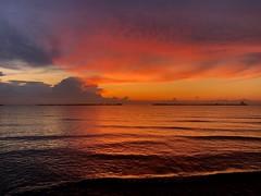 Iph8081 (gzammarchi) Tags: italia paesaggio natura mare ravenna lidoadriano aurora alba nuvola riflesso