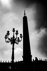 St. Peter's Square Monument (yorgasor) Tags: silhouette voigtlander nokton 35mm f12 sony a7rii a7r2 vatican vaticancity monument rome italy catholic