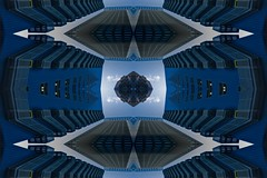 Fusion (Rob Oo) Tags: ccby40 denhaag gimp holland nederland thehague thenetherlands ro016b fusion abstract symmetry reflection