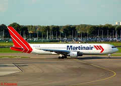 MARTINAIR B767 PH-MCG (Adrian.Kissane) Tags: airport dutch aviation sky outdoors 767 boeing jet plane airline airliner aircraft aeroplane 24428 3092006 b767 phmgg martinair amsterdam