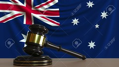 Judge's gavel and block against the flag of Australia. Australian court conceptual 3D rendering (bgrounsell16) Tags: australia australian court legal judge lawsuit law case suit gavel block flag constitution trial judicial claim litigation authority local legalaction regulation legislative legitimate national country state official juristic lawful licit constitutional courtroom concept conceptual sign symbol symbolic 3drendering