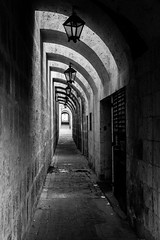 The narrow alley, el callejón estrecho (Roberto Bendini) Tags: aerequipa 2019 canon sud america santa catalina convent colonial spanish perú south callejón estrecho bn alley narrow