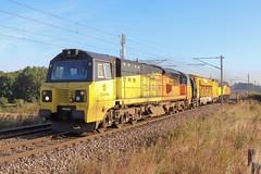 70812 tnt 56096 - 6X52 (Red Bank). (Andy.Parkinson) Tags: 70812 56096 6x52 redbank newtonlewillows class70 class56 colasrailfreight railvac