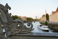 View from Weidendammer Bridge (socialwebforscher) Tags: berlin canon1635mmf28liii fernsehturm grosstadt menschen mitte sehenswürdigkeit sonyalpha7m3 spree strasenleben verkehr weidendammerbrücke