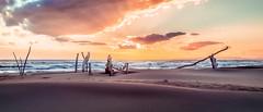 Woods & Sea (Cyclase) Tags: beach strand sunset sonnenuntergang outside sea seascape landscape water sun sky cloud dramatic wolke himmel sonne wasser drausen see landschaft orange moody elitegalleryaoi bestcapturesaoi aoi