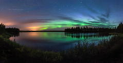 Night Sky (M.T.L Photography) Tags: nightsky auroraborealis water sky stars clouds trees forest nightscape panoramicphotography mtlphotography mikkoleinonencom autumn wind bigdipper