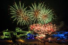 Ferropolis (inmyeyespictures) Tags: ferropolis gräfenhainichen feuerwerk fireworks stadtauseisen fujifilm gfx50s gf23f4 farbe color night nacht bergwerk metall metal eisen