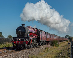 "45699 ""Galatea"" (Shed seven) Tags: 45699 galatea steam mainline barton merchantofavon railtour tour"