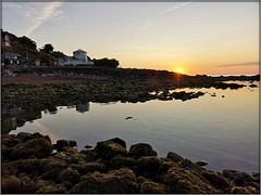 Steephill sunrise (Jason 87030) Tags: seaside coast ventnor island iow isleofwight early morning glow rocks beach sky ligthing uk england holiday august 2019 sun shot session walk water sand composition low