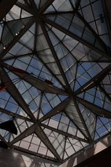 atrium 1 (Francis Mansell) Tags: glass pane roof pattern lines architecture building nationalgalleryofart washington dc atrium framework