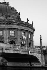 Northern Monbijoubridge (socialwebforscher) Tags: bw berlin bodemuseum canon50mmf14 grosstadt menschen mitte sehenswürdigkeit sonyalpha7m3 spree strasenleben verkehr blackandwhite schwarzweis