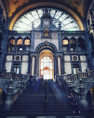 Moving on ... (Jochem.Herremans) Tags: trainstation antwerp antwerpen centraalstation travel cathedral shot iphone belgium