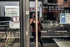 NTSP (Melissa Maples) Tags: ludwigsburg deutschland germany europe apple iphone iphonex cameraphone summer me melissa maples selfportrait woman brunette door glass photographer reflection german deutch text sign hönig shop
