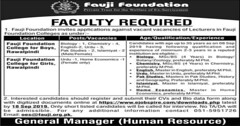 Fauji Foundation College Rawalpindi Lecturer Jobs 2019 Apply Online (mj00712) Tags: jobs career careeropportunities careeropportunity filectory jobposting jobspostings jobpostings jobupdates jobsearch jobseeking jobopenings job careers fauji foundation teaching educator express news